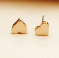 Chrismas/wedding Gift Top Grade Luxurious Gold Plated Heart Shape Stud Earring Jewelry For Women Love Fashion Earrings Wholesale