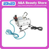 New Airbrush Kit: 1pc Air Compressor+ 1pc Dual Action Airbrush + 1pc 3m Length Air Hose