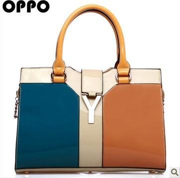 Hong Kong OPPO bag OL European and American big retro hit color simple fashion Mobile Messenger female bag 2013 new(China (Mainland))