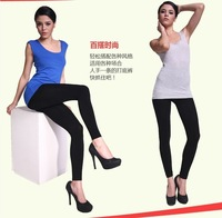 Free shipping Ms candy color flannelette nine minutes of pants leggings warm trousers for women