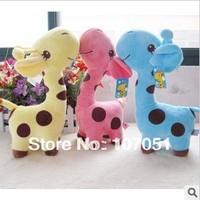 Sika deer baby doll plush dolls wholesale giraffe figurines free shipping 3pcs/lot mix colors