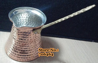 Free shipping Retro big bottom design cooper Turkish coffee pot Handmade simple coffee maker MTK03