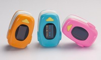 New Pediatric design fingertip pulse oximeter with dual colors OLED display, CE FDA approved M70A, Free shipping