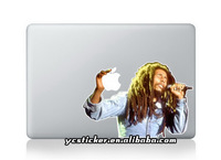 Free Shipping Hot Sell New Design for Apple Color Sticker Bob Marley Stickers for Macbook