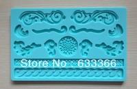 Factory Wholesale 10 pcs  Fondant cake tool beautiful design baking mold silicone embossing lace mold