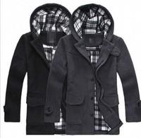 2013 new Trendy Casual Men Skinny Double-breasted Warm Coat Men Wool Warm Overcoat Men Hot Woolen Cloth Wholesale Free Shipping