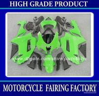 ABS Plastic fairing kit for Kawasaki Ninja ZX-6R 2007 2008 ZX 6R 2007 2008 ZX6R 07 08 fairings green black   parts RX6z