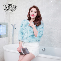 Noz 2013 women's fur fox wool fashion outerwear