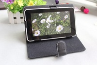 Good quality universal many colors leather case bag cover for tablet MID Buckle Protective holster free gift shipping