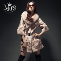 Noz 2013 autumn top rabbit fur fashion fox fur coat