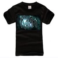 KORN LOGO BLACK NEW T-SHIRT FRUIT OF THE LOOM DTG Men's T-shirt