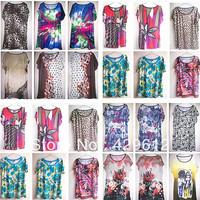 Viscose 10 loose t-shirt female plus size shirt short-sleeve o-neck hotsale 2013