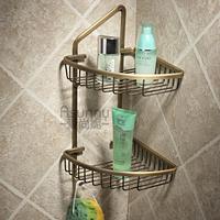 vintage style copper bathroom shelf glove basket rack with double hook antique pendant