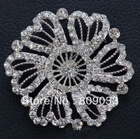 Alloy Rhinestone Flower Brooches Pin  -----B2007621