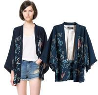 New Women Vintage Retro Ethnic Phoenix Loose Style Kimono Cardigan Jacket Coat