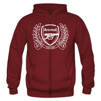 Christmas New Year gift Arsenal Memorial fleece hooded zip cardigan sweater jacket fall and winter clothes men