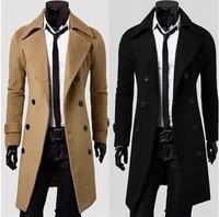 Factory direct men's epaulette jacket winter thickening wool woolen coat men's windbreaker jacket increase the plus fertilizer