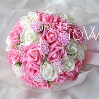 Free Shipping 30PCS Artificial PE flowers Bride or Bridesmaid wedding bouquets Diameter 26-28 cm BB-30-3451