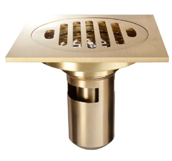 Bathroom Floor Drain : Golden brass modern style bathroom floor drain waste water