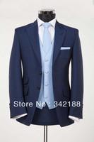 Free shipping!Custom made high quality cheap Men's dark navy suits/wedding groom wear dress ,groomsmen tuxedos/bridegroom suits