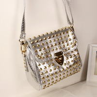Free Shipping!2013 Punk Style Fake Crocodile Rivet Messenger Bags/Shoulder Bags/Handbags For Lady