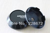 Free Shipping 65mm All Black ABS ADVAN Racing Wheel Center Caps  ADVAN Emblem Wheel Center Hub Caps
