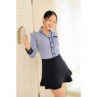 2013 spring and autumn women's elegant lace slim shirt long-sleeve shirt female tz2148