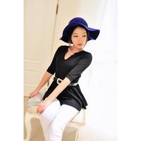 2013 autumn women's top basic shirt slim half sleeve t-shirt tz2168