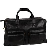 Free Shipping Fashion Zipper Leather  Men's Messenger Bags Brand Travelling Handbags