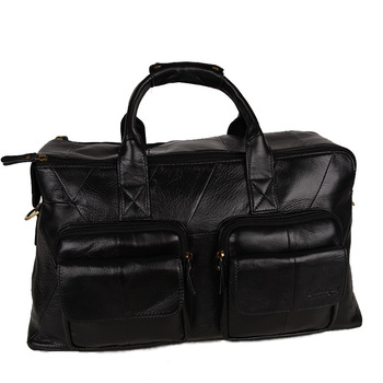 Free Shipping Fashion Zipper Leather  Men's Messenger Bags Brand Travelling Handbags