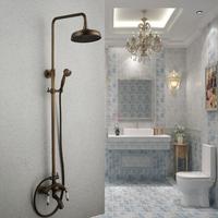 fashion antique copper bathroom shower head set