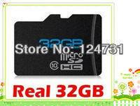 1pieces/lot Free shipping Original 32gb tf card Class 10 32G Micro SD HC TF Card Memory Card Real 32 GB,64GB+free adapter