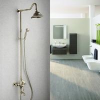 Gold-plated bathroom shower set European style luxury shower faucet set