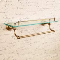 vintage copper bathroom  dresser staring rack carved glass shelf with towel bar