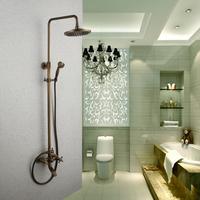 Bathroom classic fashion antique copper shower set vintage lifting shower head set