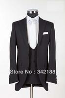 Top sell/custom made 2014 new style black for groomsmen suits/wedding groom wear tuxedo/bridegroom Men's dress/Top sell/Free EMS