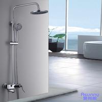 copper shower faucet set straight pipe bathtub shower head set