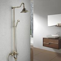 gold plated copper shower set golden shower faucet set