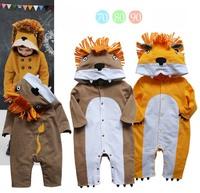 Male child lion style romper long-sleeve bodysuit p35 3
