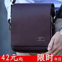Authentic brand composite leather men's bags business casual shoulder inclined shoulder bag man bags briefcases free shippingbag
