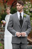 Free shipping!!!custom cheap New Style Charcoal wedding Groom Tuxedos Best Man Peak Lapel Groomsmen Men's Suits Bridegroom dress