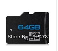 1pices/lot Free shipping NEW MicroSD 64GB class 10 Micro SD Memory Card TF 64 GB, 64G with free Adapter
