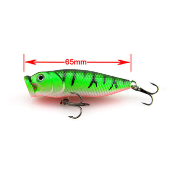2013 Hot selling Popper Lure 6.5cm/8g top water magician Popper hard bait,plastic fishing lure,10pcs/lot,freeshipping