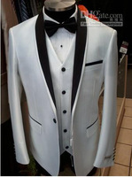 Free shipping custom made new design business cheap men's suits wedding bridegroom wear tuxedos groomsmen and groom for dress