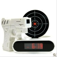 "1PC Unique 2.3"" LCD Laser Target Alarm desk Clock Set + Free Shipping"