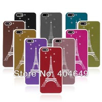 aluminum Case For iphone 5c .wholesale - new arrive aluminum Brushed Eiffel Tower Case for iphone 5c Free shipping