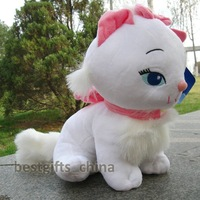 Cute  white Marie Cat 27cm stuffed animals plush doll soft toys new