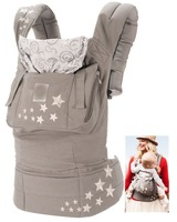 Free shipping  Original Galaxy Grey 100% cotton baby child hooded carriers