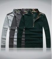 Fashion Polo T Shirt Men 2013 autumn Shirts For Mens T Shirts Men's T-Shirt Man Long Tshirt  128