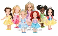 New 2013! Petite Princess Party Gift set,mini princess doll, 5pics/set, Rapunzel/Snow White /Mermaid/Merida,dolls for girls